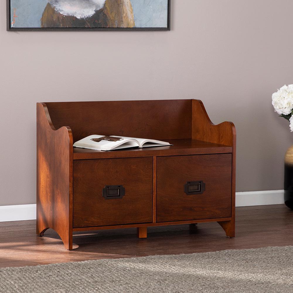 Barbara Brown 2-Drawer Storage Bench