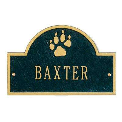 Pet Paw Mini Arch Black/Gold One Line Wall Marker