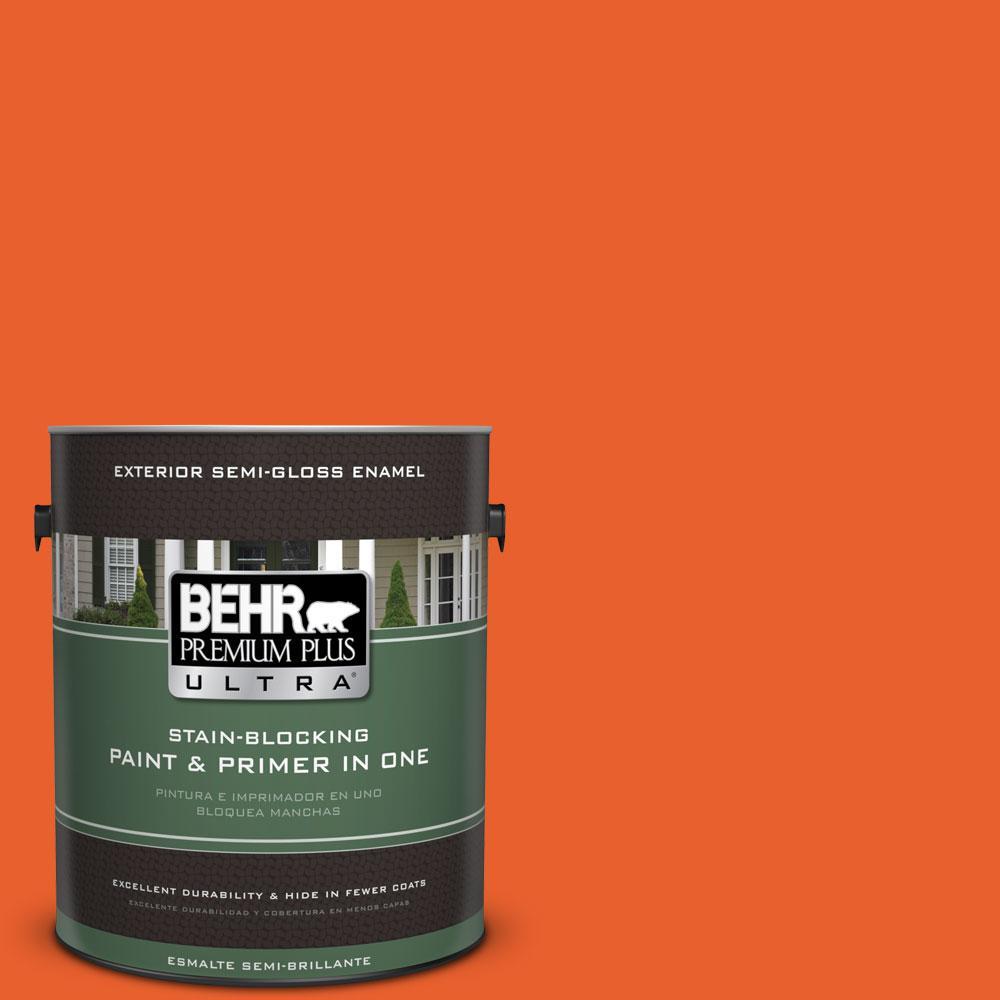 1-gal. #210B-7 Flame Semi-Gloss Enamel Exterior Paint