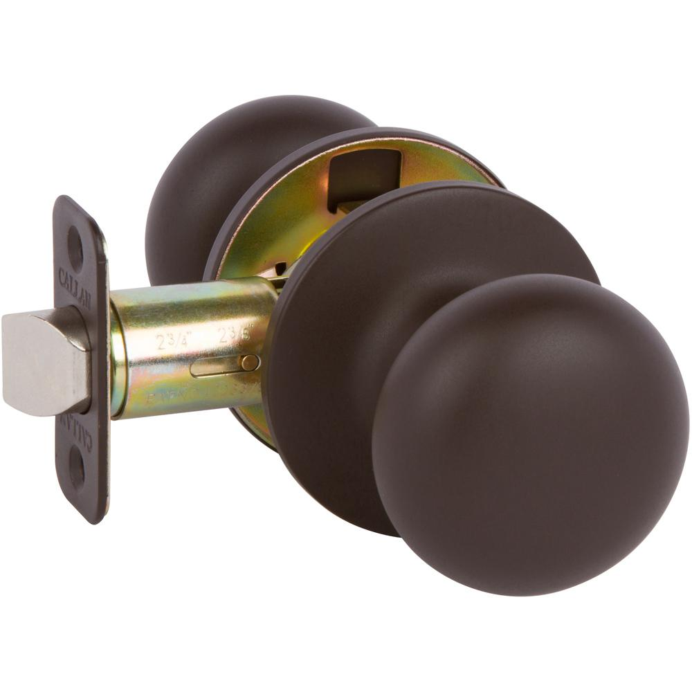 Callan Saxon Oil Rubbed Bronze Hall/Closet Knob KS1010   The Home Depot
