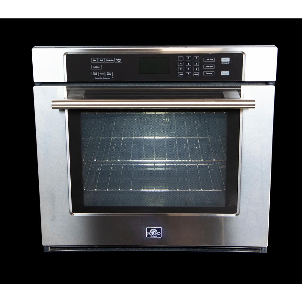 Forno Venetzia Villarosa 30 in. Single Electric Wall Oven Self-Cleaning with Convection in Stainless Steel