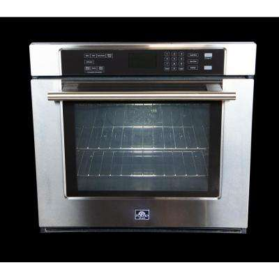 Villarosa 30 in. Single Electric Wall Oven Self-Cleaning with Convection in Stainless Steel