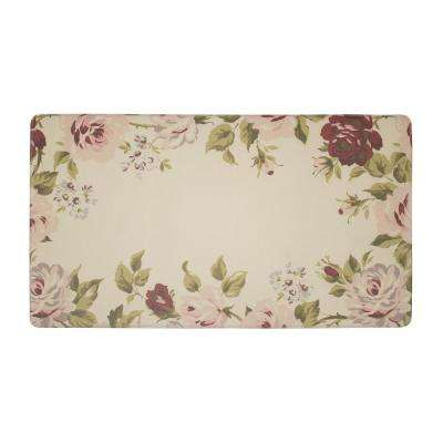 Clarissa Cranberry 20 in. x 32 in. PVC Anti-Fatigue Comfort Kitchen Mat