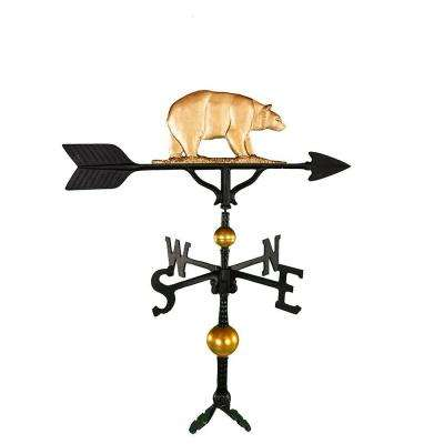 32 in. Deluxe Gold Bear Weathervane