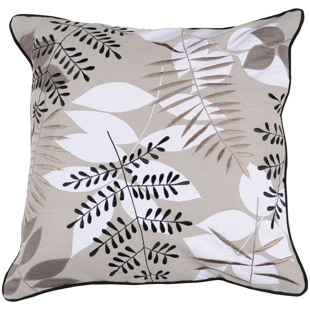 Artistic Weavers LeavesF 18 in. x 18 in. Decorative Down Pillow-DISCONTINUED