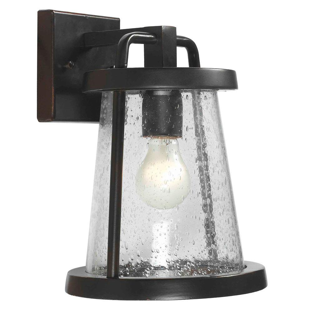 Home Decorators Collection Gale 1-Light Black Outdoor Wall Lantern