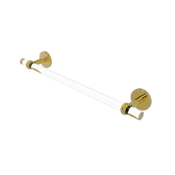 Allied Brass Clearview 36 In Towel Bar With Twisted Accents In Polished Brass Cv 41t 36 Pb The Home Depot