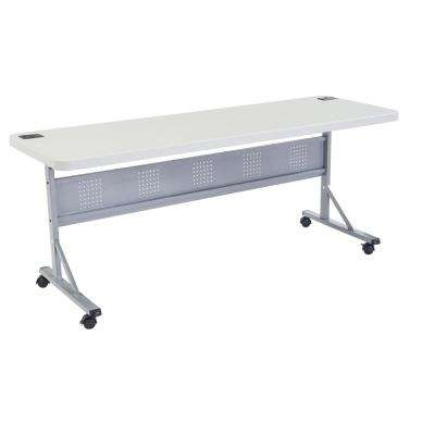 72 in. Grey Plastic Smooth Surface Folding Flip-N-Store Training Table