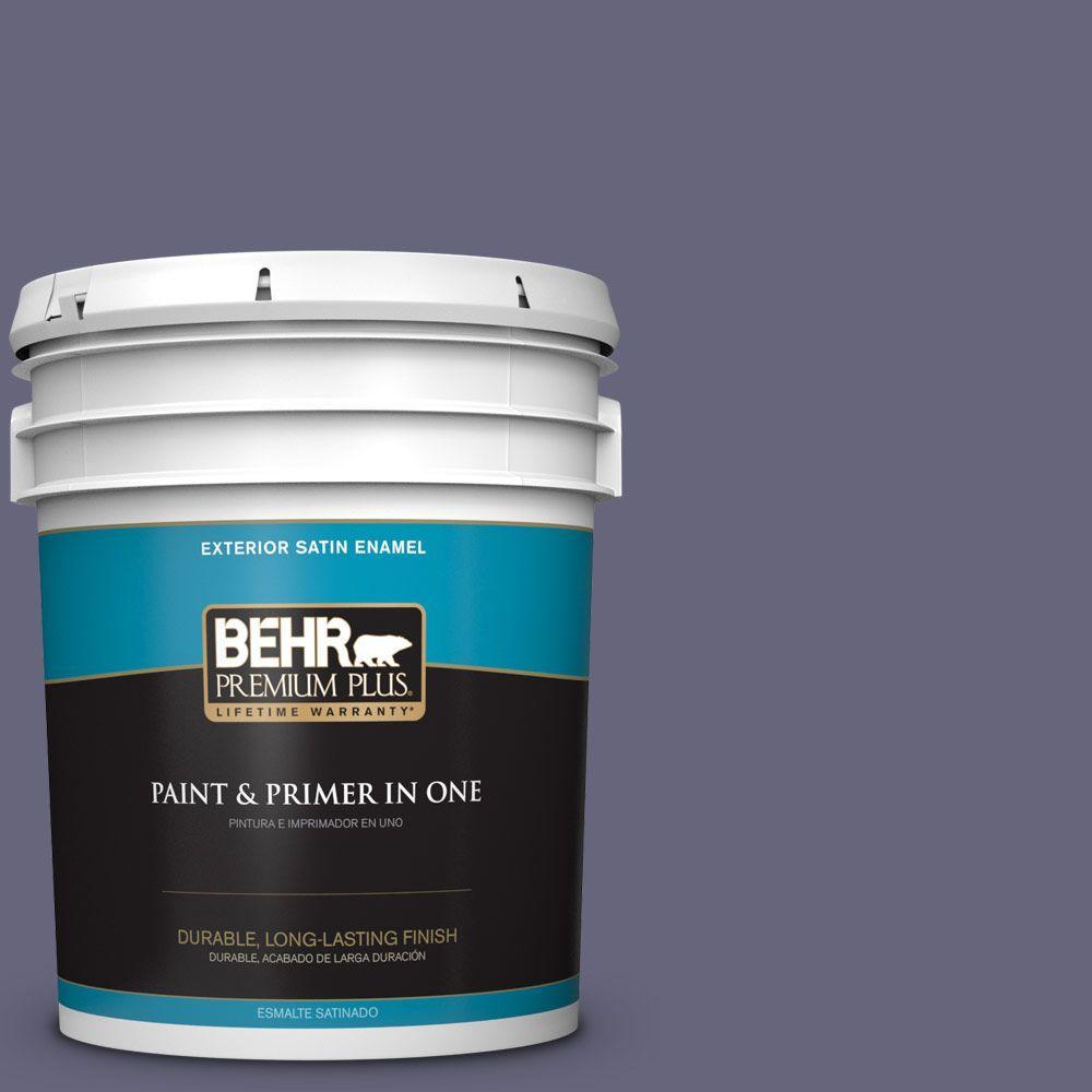 BEHR Premium Plus 5-gal. #640F-6 Enchanted Evening Satin Enamel Exterior Paint