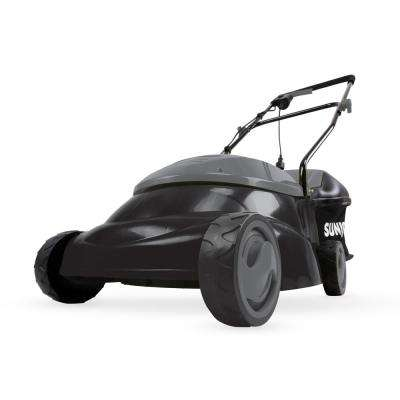 14 in. 12 Amp Electric Walk Behind Push Lawn Mower, Black