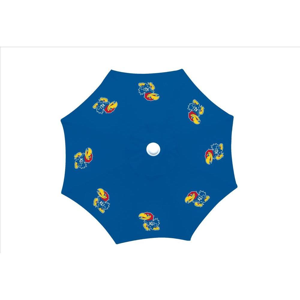 9 ft. University of Kansas Blue Patio Umbrella