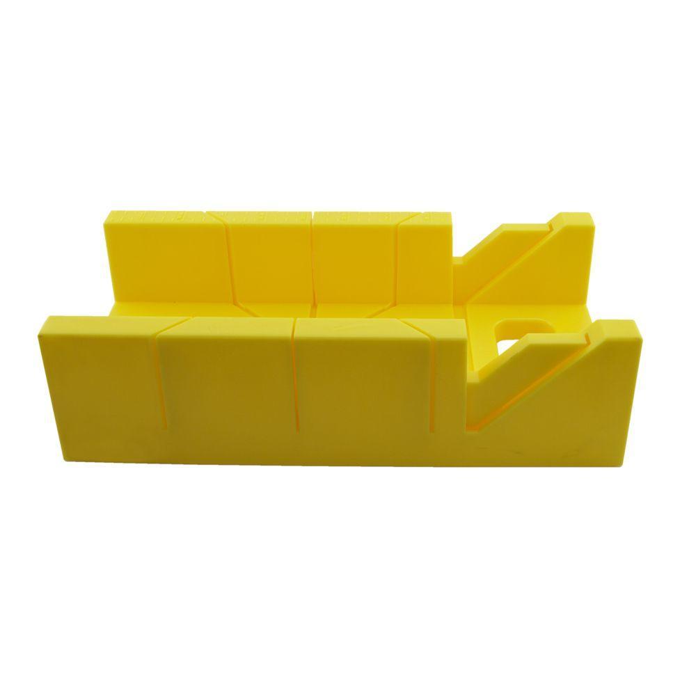 12 in. Yellow Plastic Miter Box