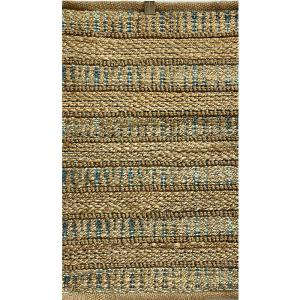 Lr Home Accord Blue 2 Ft 6 In X 4 Ft Coastal Striped Natural Jute Area Rug Rugsa99643nad2640 The Home Depot