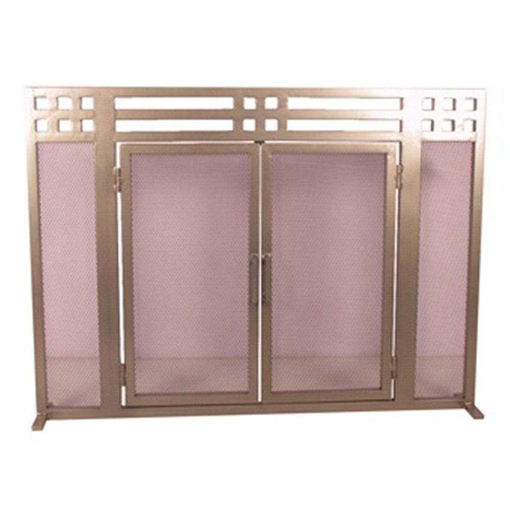 Layton Pewter Single-Panel Fireplace Screen