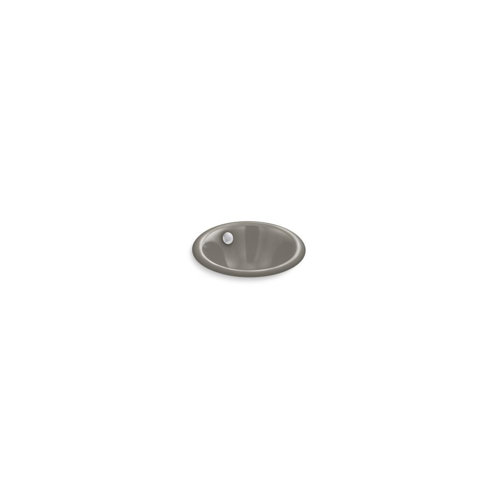 Iron Plains Round 12 in. Drop-In/Undermount Bathroom Sink in Cashmere