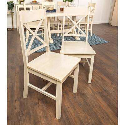 Millwright Antique White Wood Dining Chair (Set Of 2)