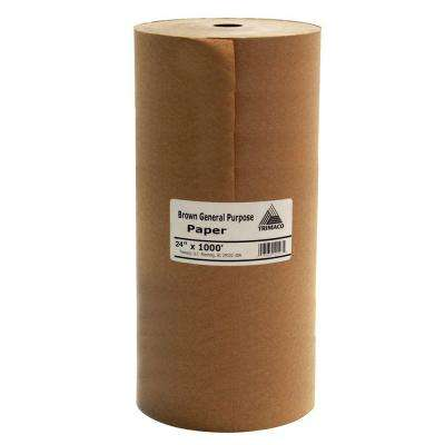 24 in. x 1000 ft. Brown Masking Paper