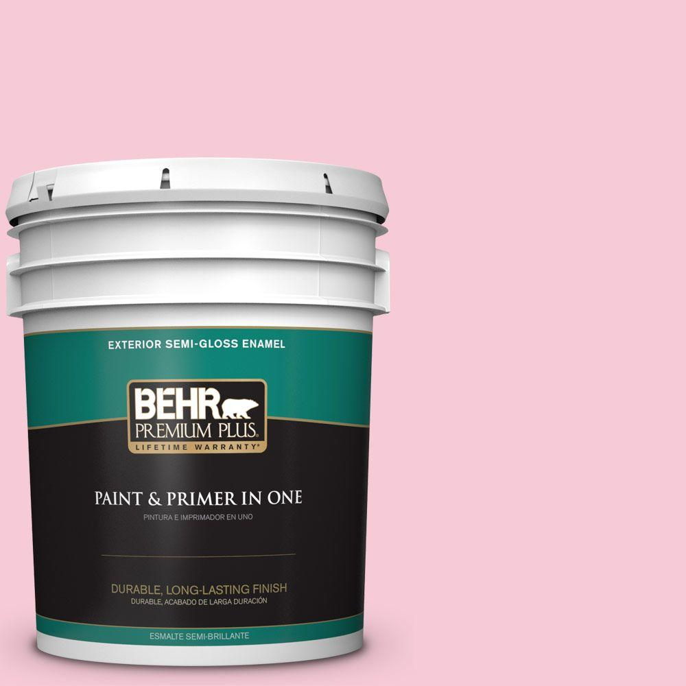 BEHR Premium Plus 5-gal. #110A-3 Palace Rose Semi-Gloss Enamel Exterior Paint
