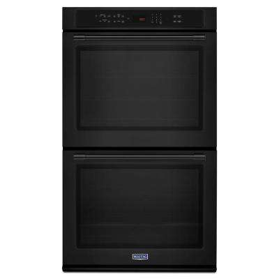 30 in. Double Electric Wall Oven with Convection in Black