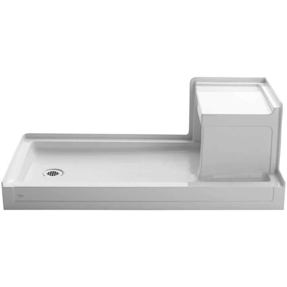 KOHLER Tresham 60 in. x 32 in. Single Threshold Shower Base with Left Drain in White
