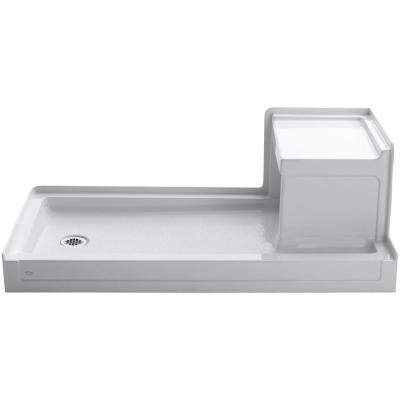 Tresham 60 in. x 32 in. Single Threshold Shower Base with Left Drain in White