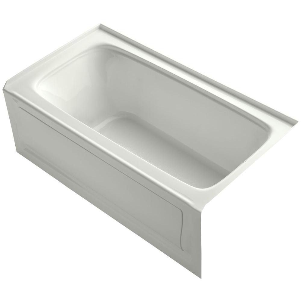 Kohler Archer 5 Ft Right Drain Soaking Tub In Biscuit K