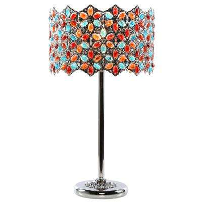Poetic Wanderlust by Tracy Porter 23 in. Multi-Colored Table Lamp with Fairlea Jeweled Shade