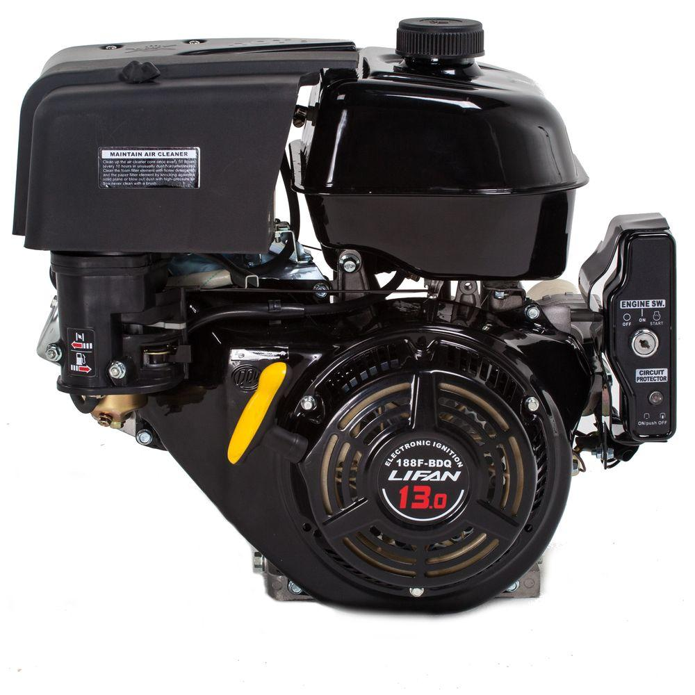 LIFAN 1 in. 13 HP 389cc OHV Electric Start Horizontal Keyway Shaft Gas  Engine-LF188F-BDQ - The Home DepotThe Home Depot