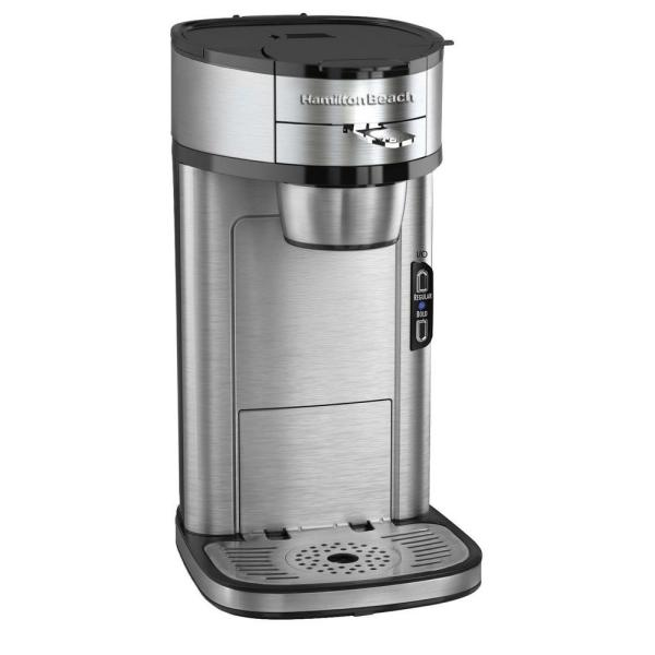 Hamilton Beach Stainless Steel Single Serve Coffee Maker with Built-In Filter