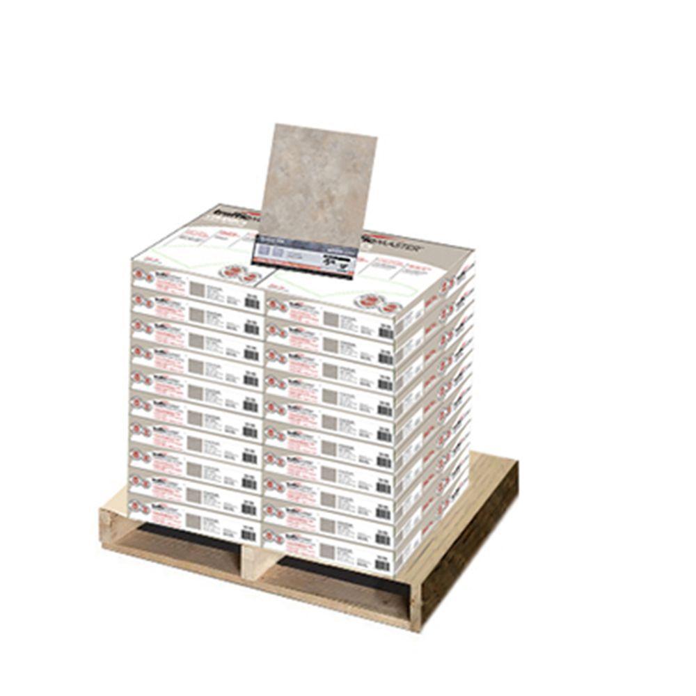 null Cool Grey 12 in. x 12 in. Vinyl Tile Flooring (20 cases/600 sq. ft./pallet)