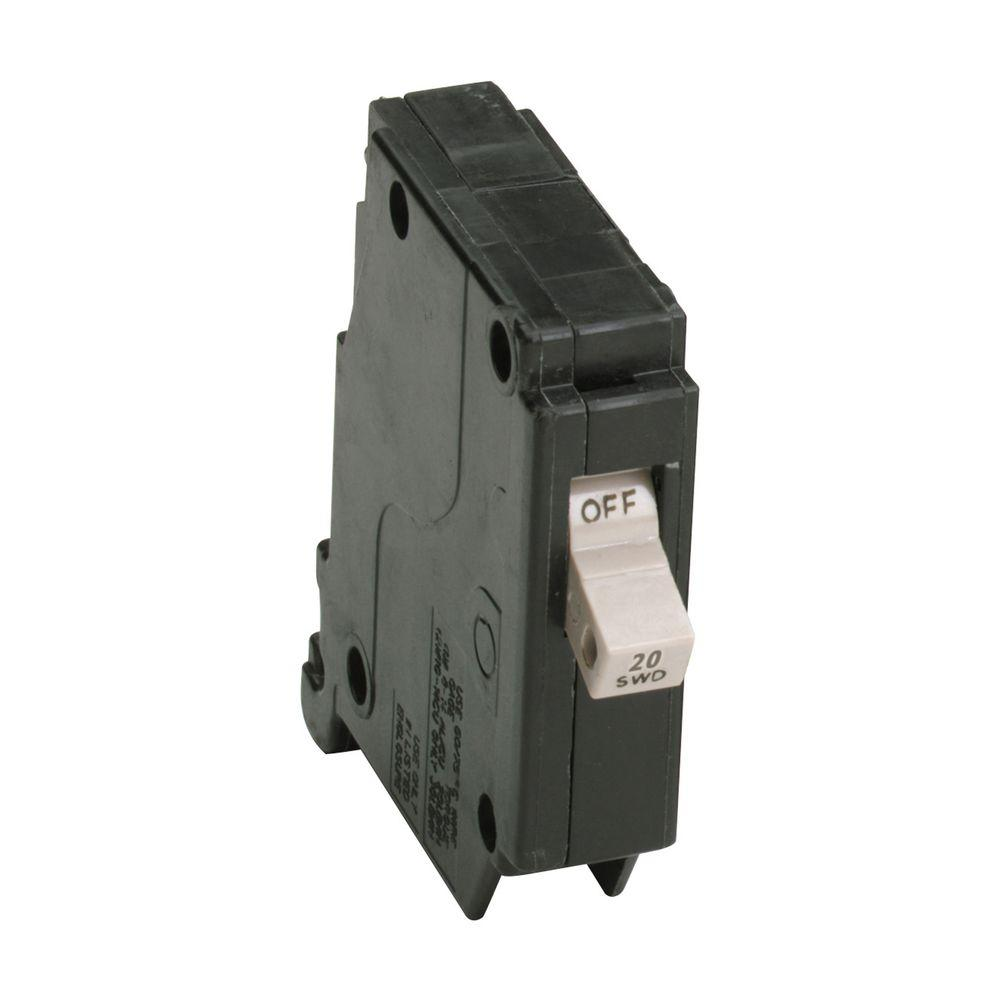 20 Amp 3/4 in. Single-Pole Type CH Circuit Breaker-CH120 - The Home ...