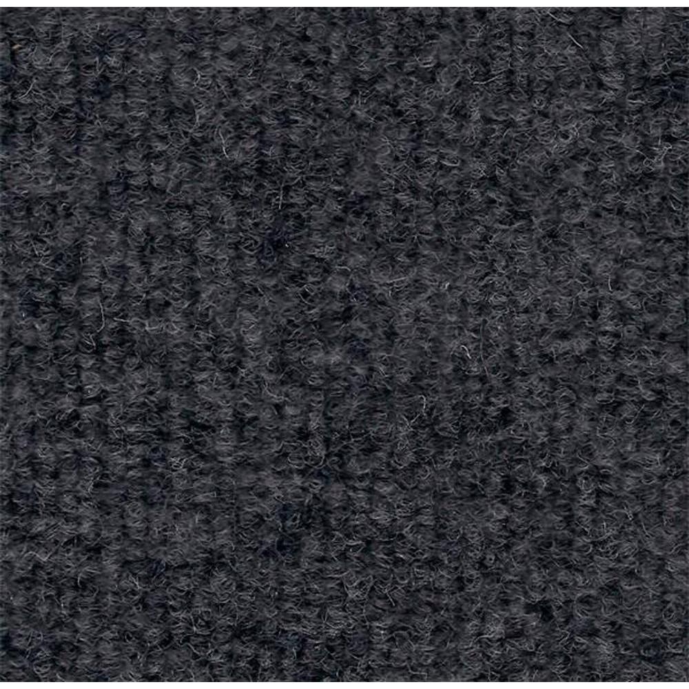 Durasquares Light Grey Single Rib 18 in. x 18 in. Carpet Tile (12 Tiles/Case)