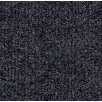 Light Grey Single Rib 18 in. x 18 in. Carpet Tile (12 Tiles/Case)
