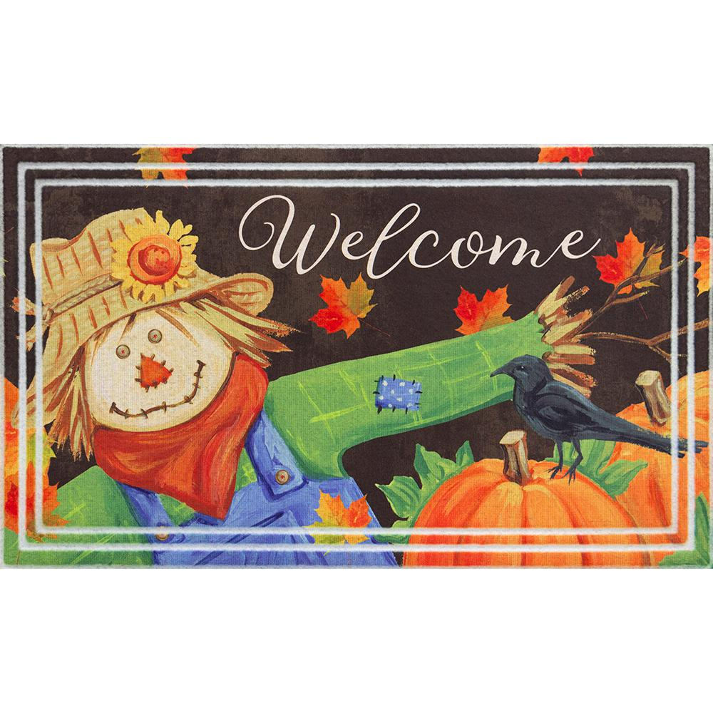 Home Accents Holiday Welcome Scarecrow 18 in. x 30 in Door Mat