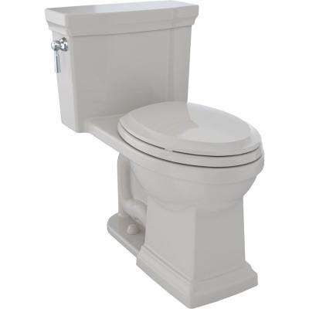 Promenade II 1-piece  1.28 GPF Single Flush Elongated Toilet with CeFiONtect in Sedona Beige