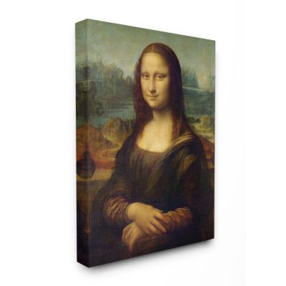"24 in. x 30 in. ""Da Vinci Mona Lisa Renaissance Painting"" by Leonardo Da Vinci Canvas Wall Art"