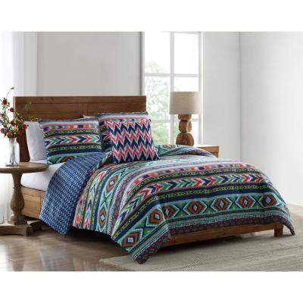 Ava Tribal Print Twin Comforter Set