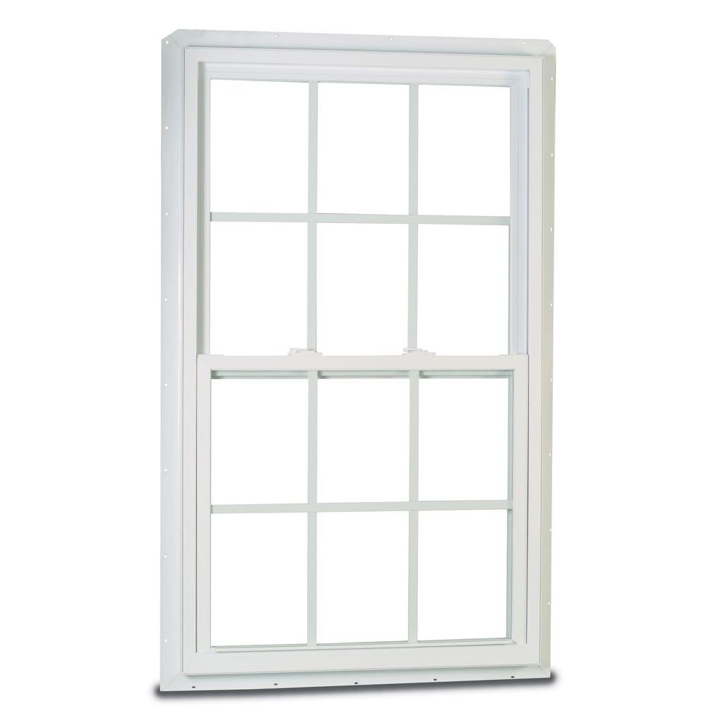 American Craftsman 32 In X 36 In 70 Series Single Hung Fin Ls Vinyl Window With Grilles White 2830729lsg The Home Depot