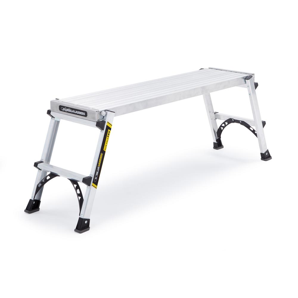 Heavy-Duty Aluminum PRO Slim-Fold Work Platform with 300 lbs. Load Capacity