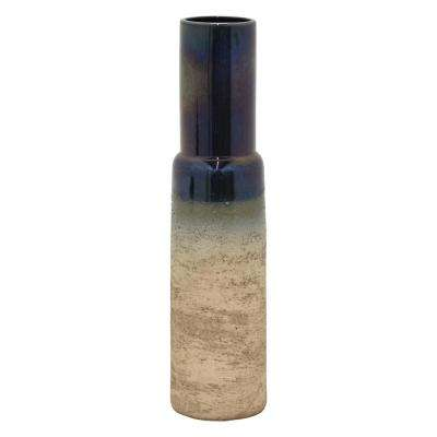 23.75 in. Multi-Colored Ceramic Vase