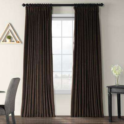 Blackout Signature Java Doublewide Blackout Velvet Curtain - 100 in. W x 96 in. L (1 Panel)