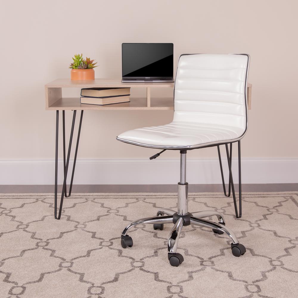 FlashFurniture Carnegy Avenue White Metal Office/Desk Chair