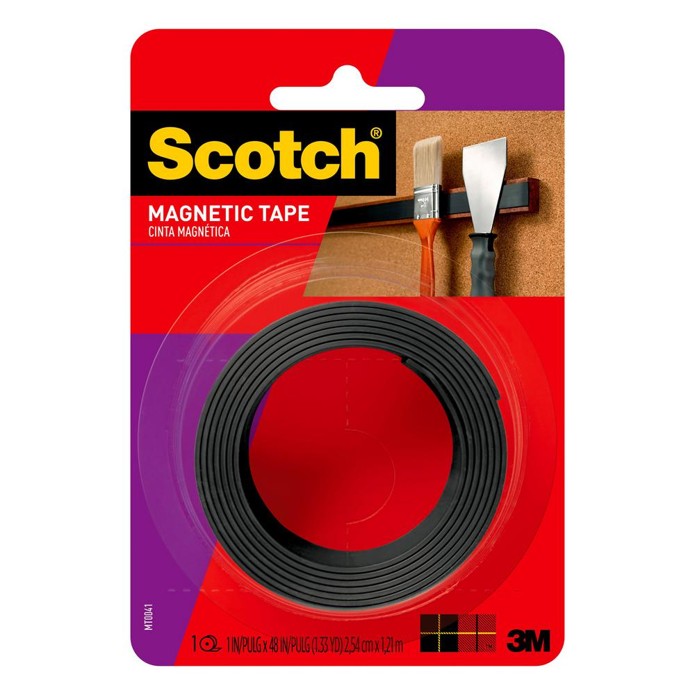Scotch 1 in. x 1.33 yds. Repositionable Magnetic Mounting Tape