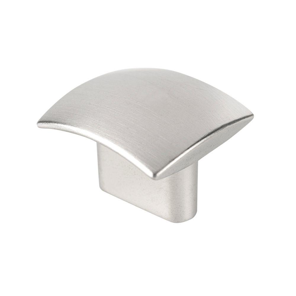 Italian Designs Collection 1.18 in. Brushed Nickel Cabinet Knob