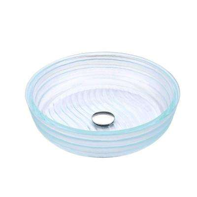 Canta Series Deco-Glass Vessel Sink in Lustrous Translucent Crystal