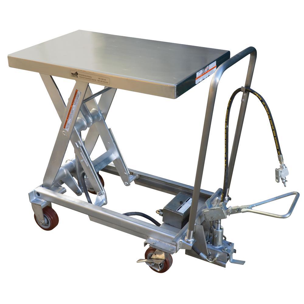 1,000 lb. 20 x 40 in. Hydraulic Steel Cart