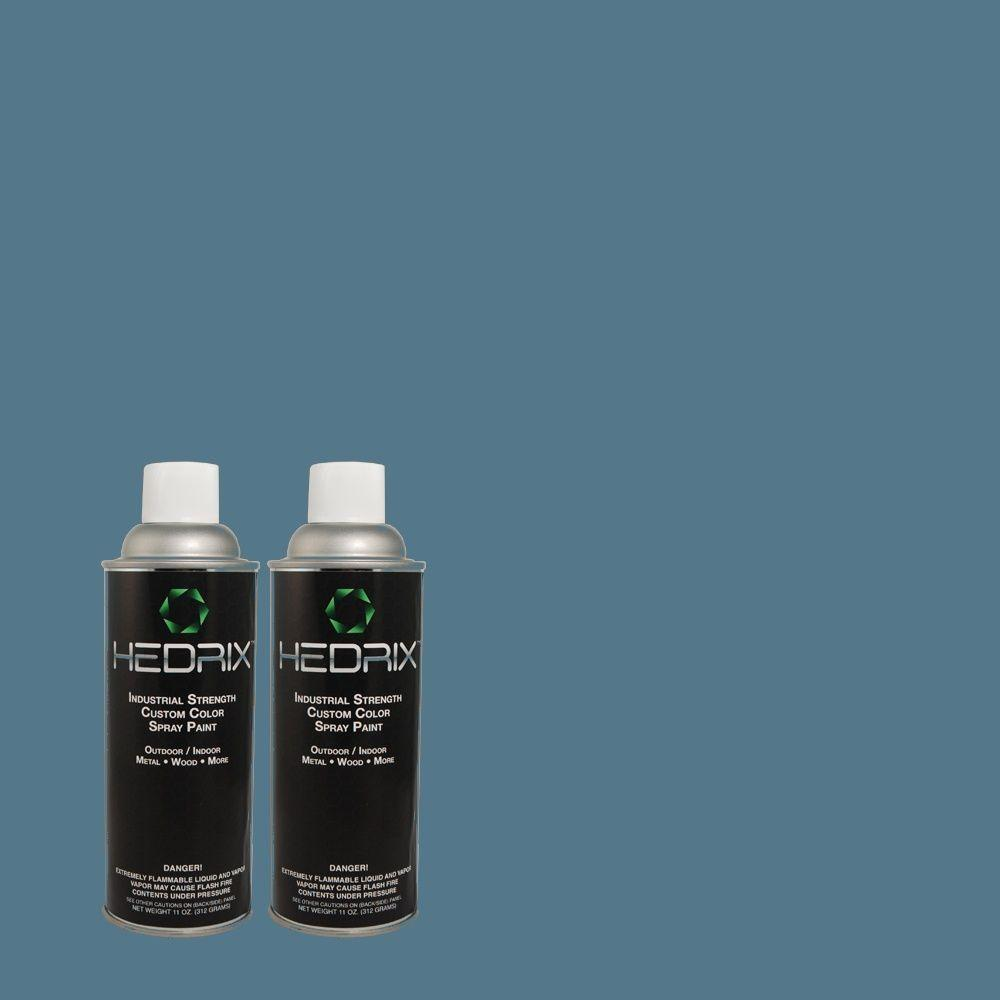 Hedrix 11 oz. Match of RAH-81 Cadet Blue Semi-Gloss Custom Spray Paint (2-Pack)