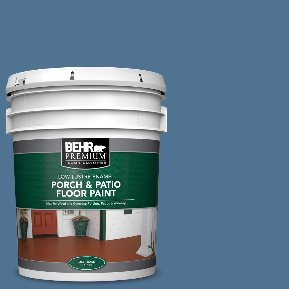 5 gal. #PPU14-18 Laguna Blue Low-Lustre Enamel Interior/Exterior Porch and Patio Floor Paint