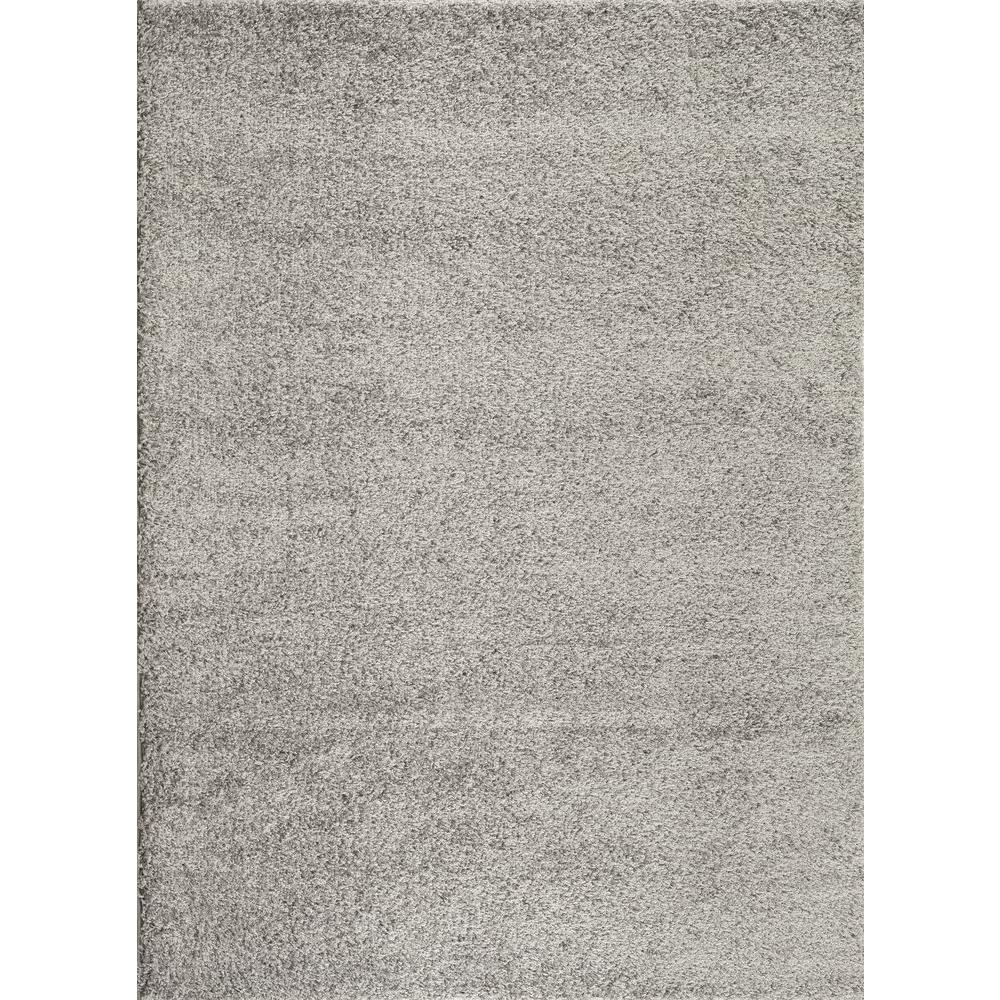 World Rug Gallery Soft Cozy Solid Light Gray 5 Ft 3 In X 7