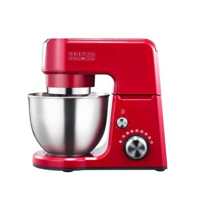 GM25 2.6 Qt. 7-Speed Tilt-Head Red Stand Mixer with Whisk, Beater and Dough Hook Attachments